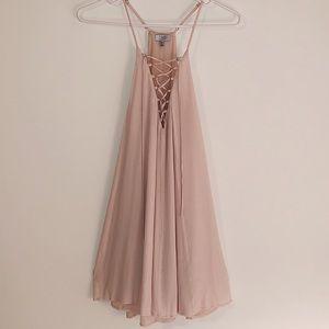 Tobi Lace-Up Shift Dress